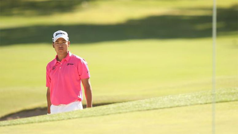 Golf: Late eagle rescues Matsuyama on tough day