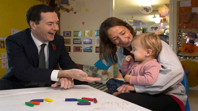 George Osborne visits Toyota Manufacturing UK to promote workplace nurseries
