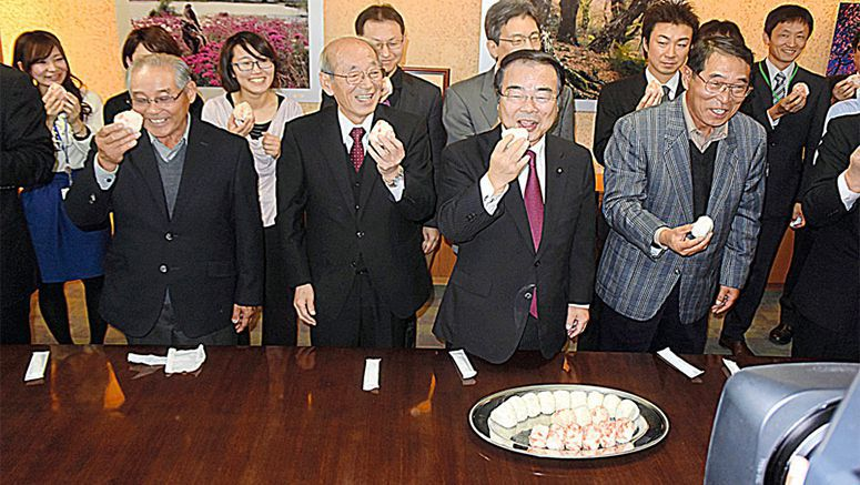 Fukushima rice cultivated in decontaminated fields served at Environment Ministry