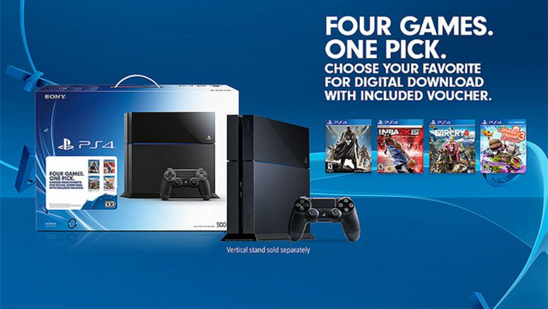 Sony : New PS4 Bundle Lets You Choose One of Four Hit Titles for $399.99