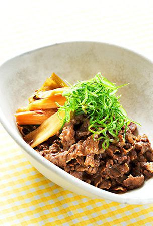 Sweet soy sauce flavor is good match for beef and green onions