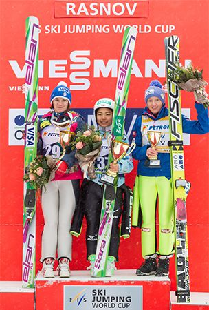 Takanashi wins women's ski jump World Cup event in Romania