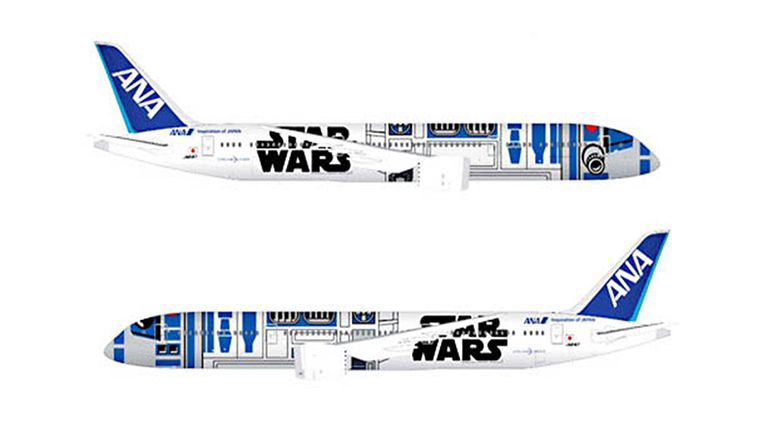 ANA aircraft with 'Star Wars' character to fly international skies