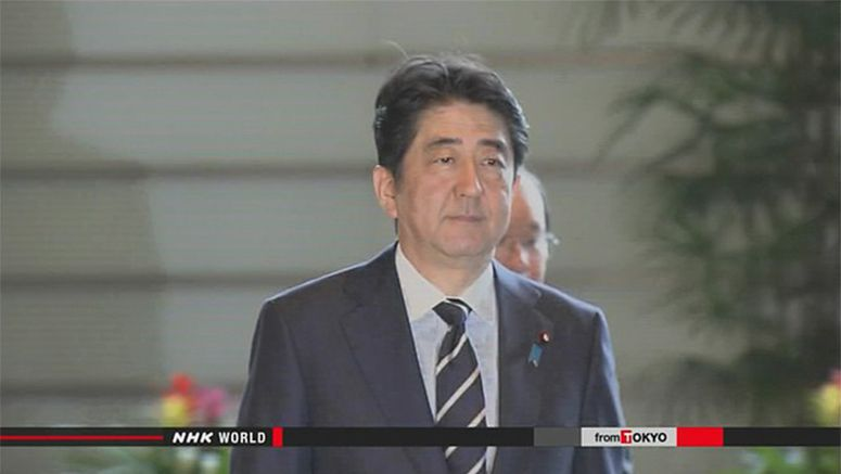 Abe encourages SDF officer leading Somalia mission