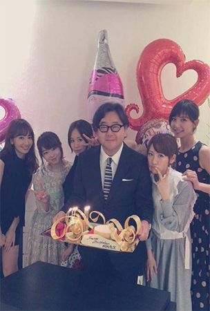 Early AKB48 members celebrate Akimoto Yasushi's 57th birthday