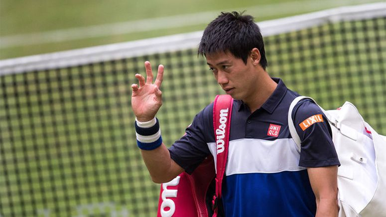 Calf injury grounds Kei Nishikori in Germany