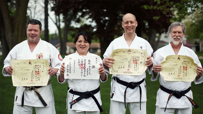 Students and instructors at Lonsdale Karate earn Black Belt promotions