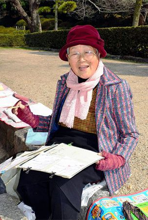 'Castle Grandma' publishes her folk-art picture letters