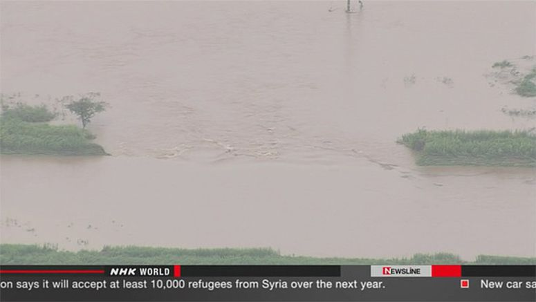 Rescues continue along flooded Shibui River