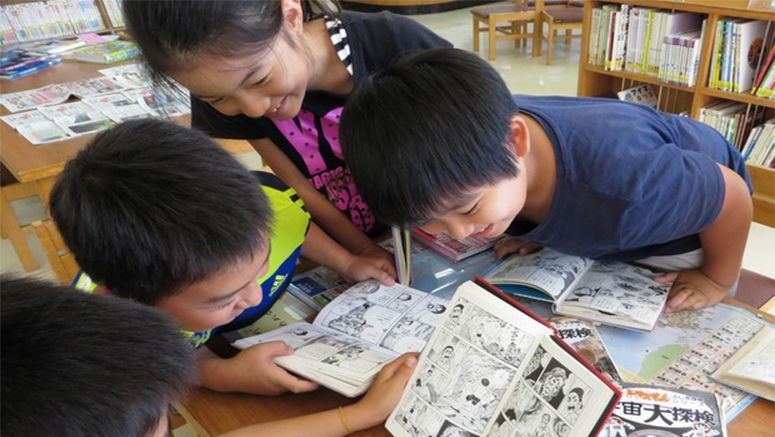 Kids' manga reading time linked with other forms of reading: survey