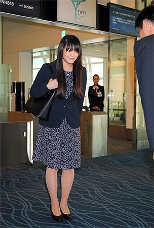 Princess Mako returns to Japan after finishing university course in England