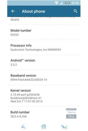 Sony : New update (28.0.A.8.266) hitting the Xperia Z3 Plus