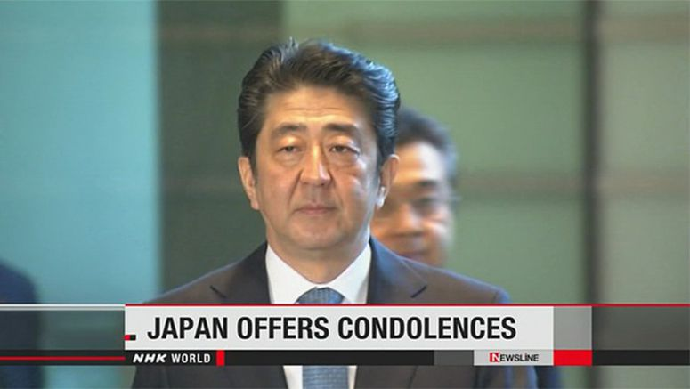 Abe voices solidarity with Indonesia over blasts