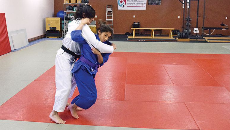 Judo competitor turns heads