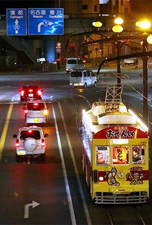 Tickets on Aichi 'oden' hot pot tram selling like hotcakes