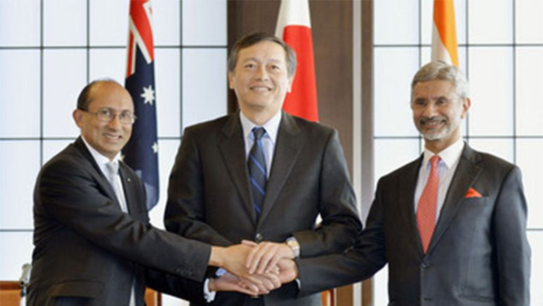 Japan, Australia, India share concern over S. China Sea tensions