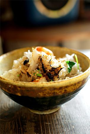 Winter's lotus root seasonal favorite when grilled with shrimp