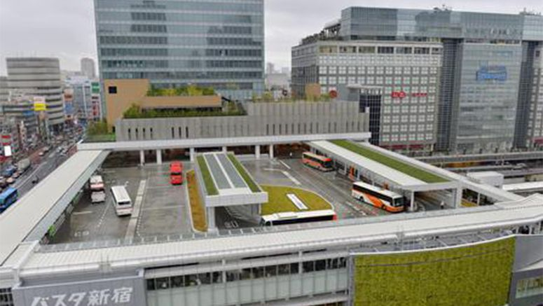 Huge bus terminal opens in central Tokyo, improves train connection