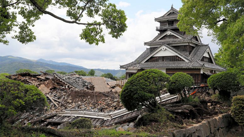 Knockout blows to Kumamoto Castle by quakes fully revealed