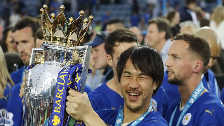Okazaki lifts 1st trophy as champions Leicester outclass Everton