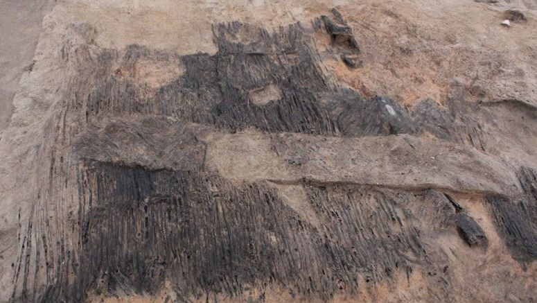 Remains from ancient ritual site discovered under volcanic ash in Gunma Prefecture