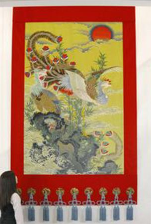 Kyoto textile firm reproduces once-lost Jakuchu tapestry