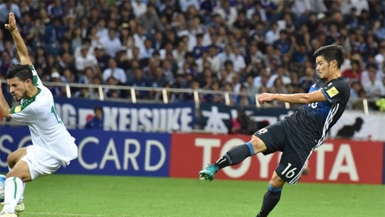 Soccer: Yamaguchi nets deep in stoppage time as Japan edges Iraq