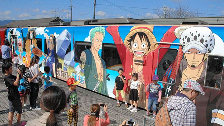 'One Piece' train begins runs to help Kumamoto rebuilding