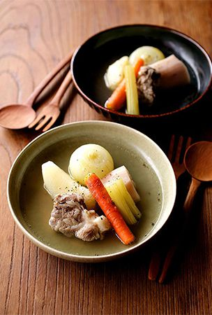 Pot-au-feu of tender pork and root veg warms from the inside