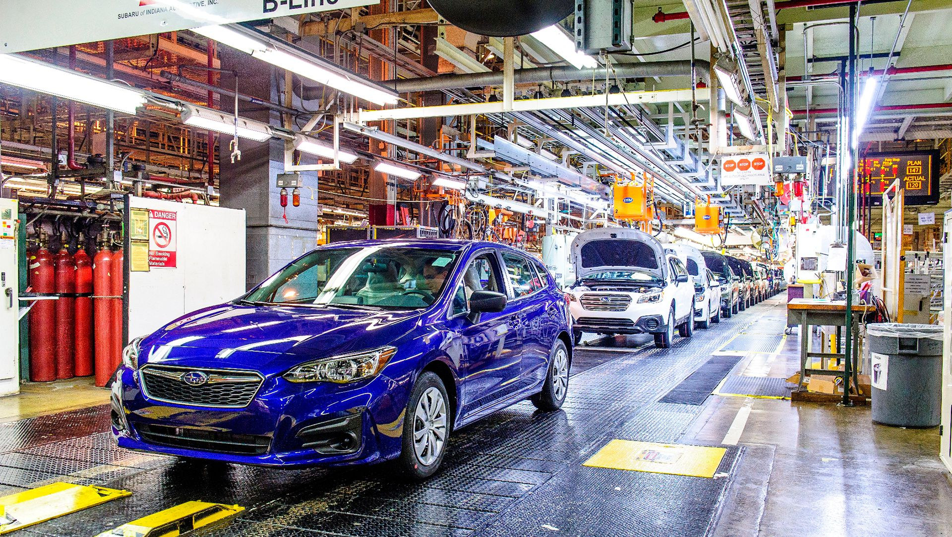 Subaru: First American Made Impreza Rolls Off The Assembly Line in ...