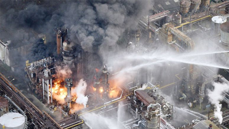 Fire at oil plant in Wakayama Pref., 3,000 people urged to evacuate