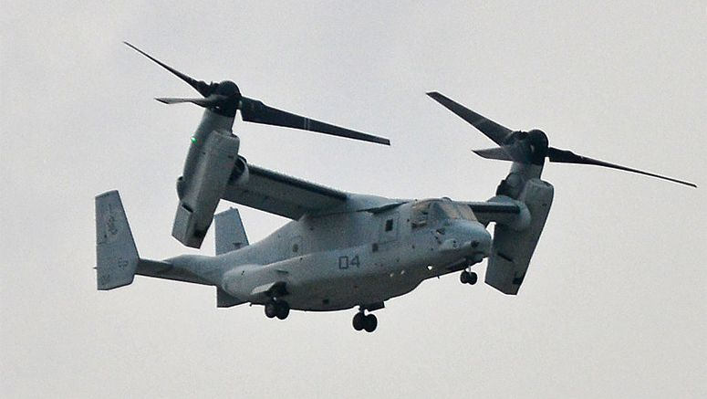 U.S. deleted danger of Osprey aircraft from Okinawa base report