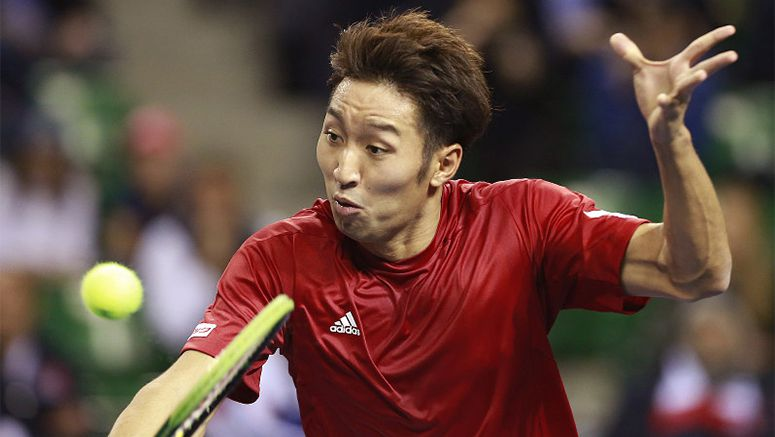 Tennis: Uchiyama gets Davis Cup consolation win for Japan