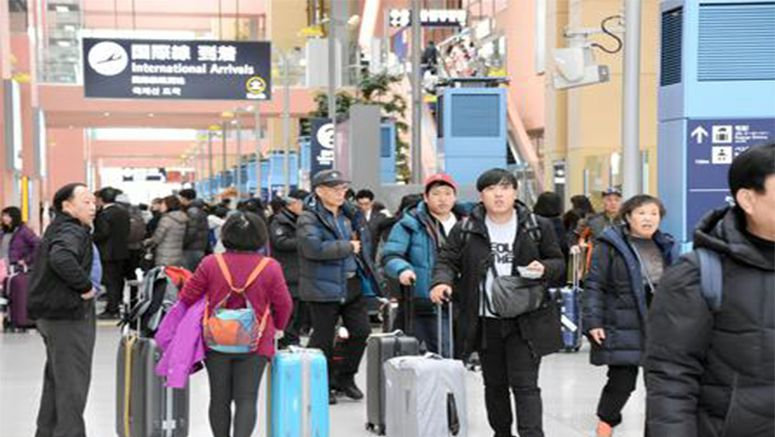 Foreign visitors to Japan hit 2nd-highest monthly total in Jan.