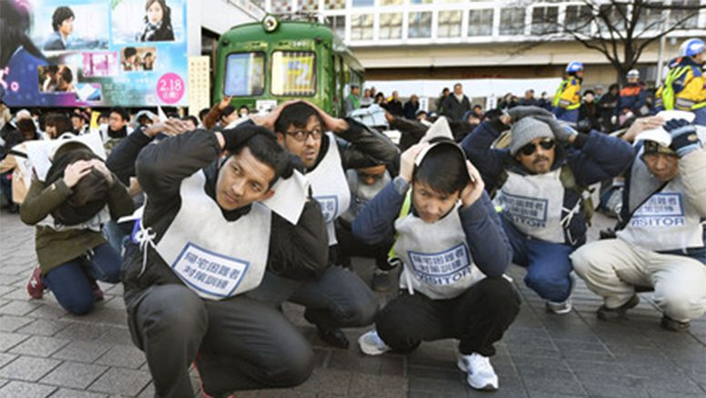 Quake drill held in Tokyo's Shibuya with 4,000 participants
