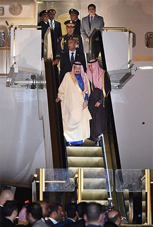 Saudi king begins 4-day Japan visit with mammoth delegation