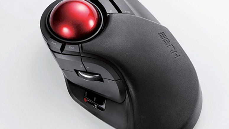 Elecom M-HT1DRBK – Wireless Optical Trackball Mouse