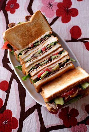 Pickled ume club sandwich, a sweet-and-sour summer treat
