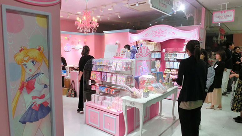 Sailor Moon store in Tokyo draws child fans, adult fans alike