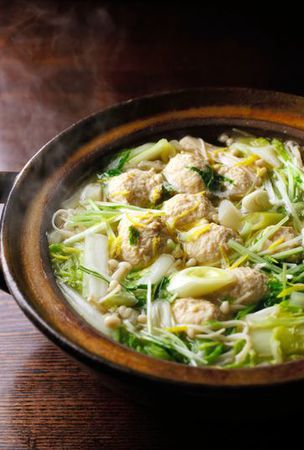 For those cold winter evenings, a chicken-ball hot pot