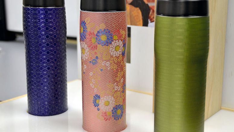 Tiger's thermos bottles provide the feeling of Japanese crafts