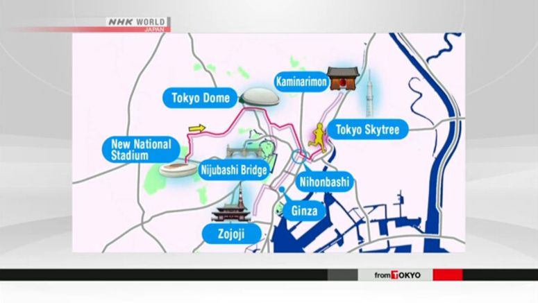 Tokyo Olympic marathon course unveiled