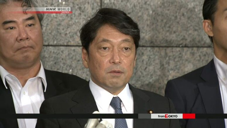 Onodera: Pressure on N.Korea to continue