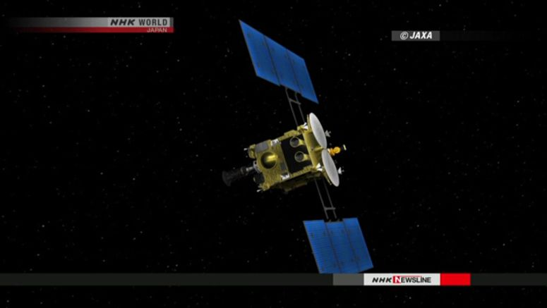 Hayabusa2 probe in final approach to asteroid