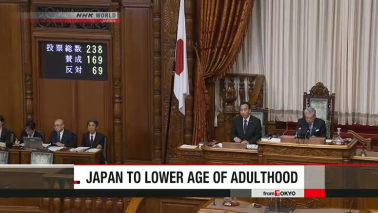 Diet enacts bill to lower age of adulthood to 18