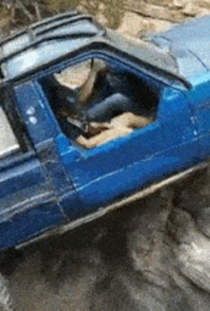 Custom Toyota Pickup Displays Epic Rock Crawling Skills
