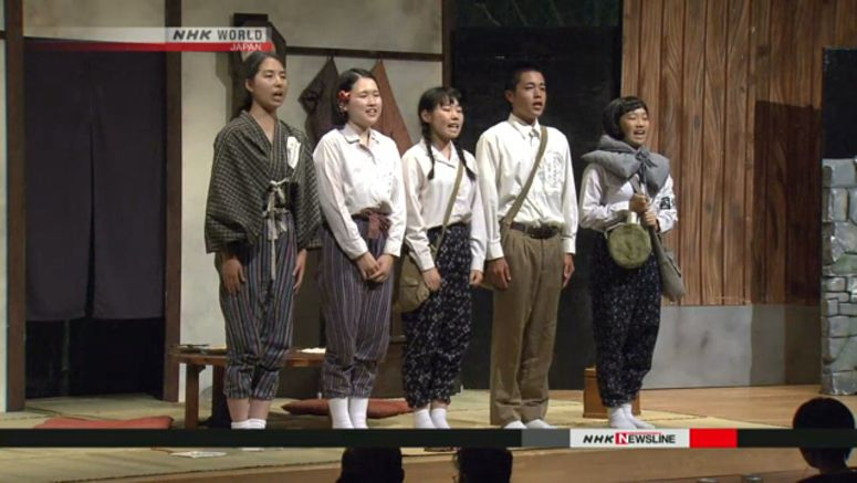 Students put on play about day of Nagasaki bombing