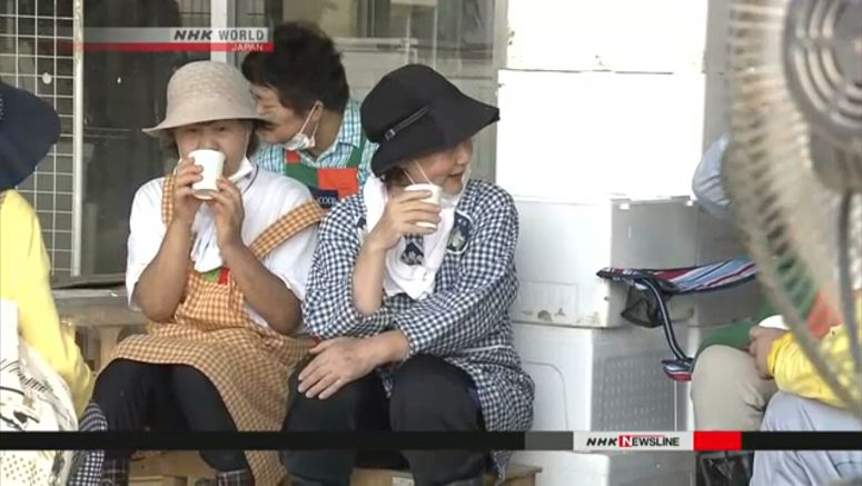 Scorching heat wave continues in Japan