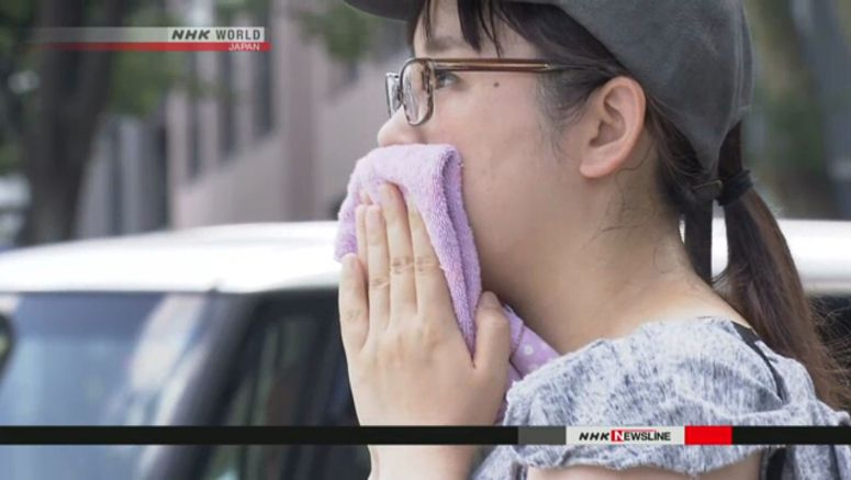 Extreme heat continues in Japan