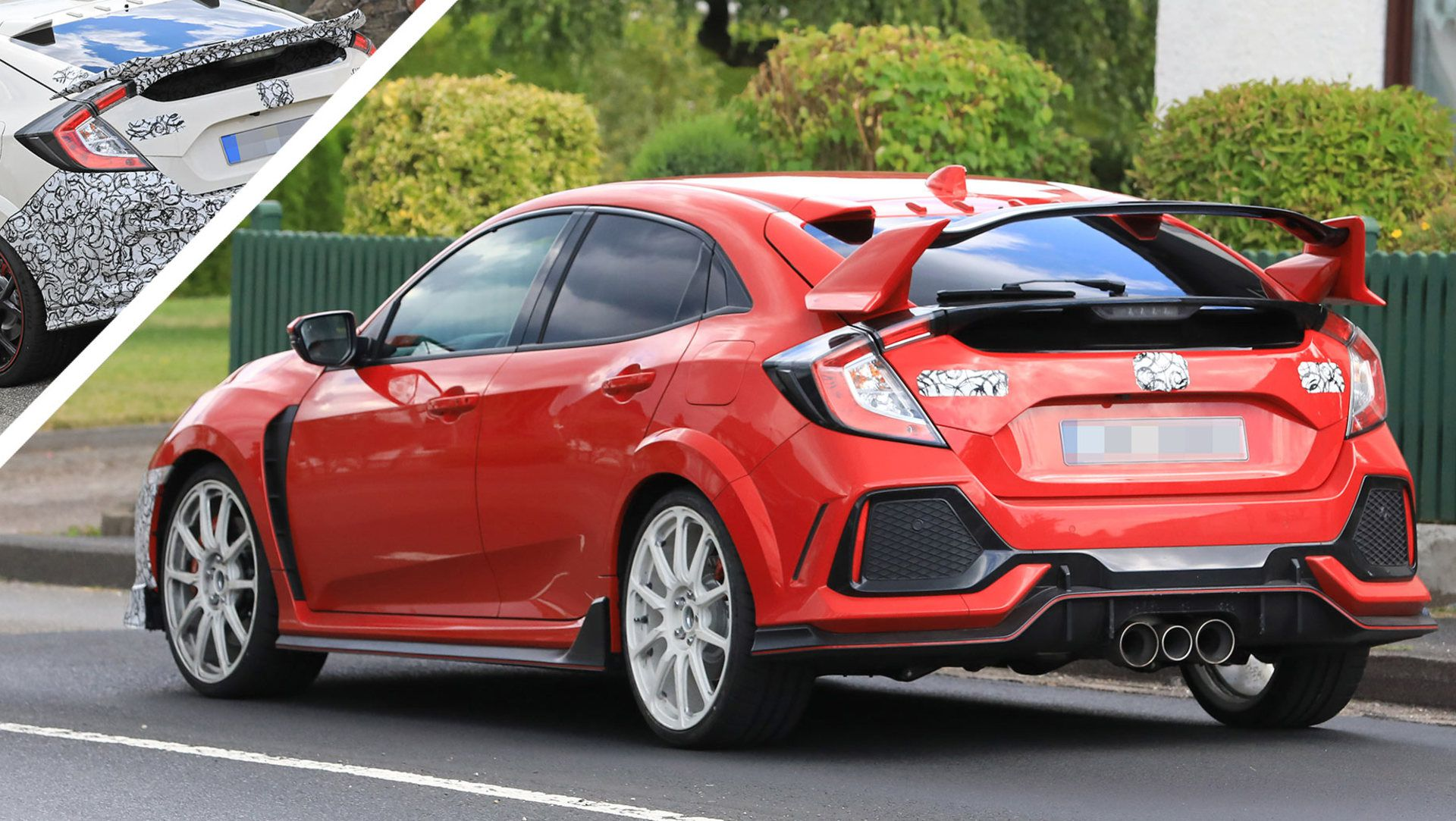 2019 Honda Civic Type R Facelift Spied With New Pers And Both Small Large Rear